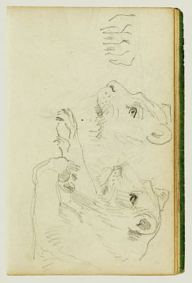 Studies Of The Head And Forelegs Of A Lioness Théodore Poster by Litz Collection