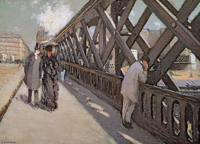 Study For Le Pont De L Europe Poster by Gustave Caillebotte