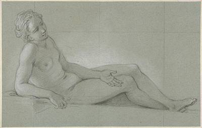 Study Of A Reclining Female Nude Poster