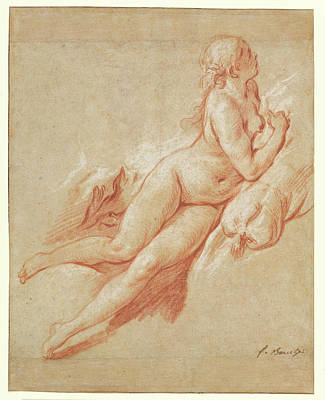 Study Of A Reclining Nude François Boucher Poster by Litz Collection