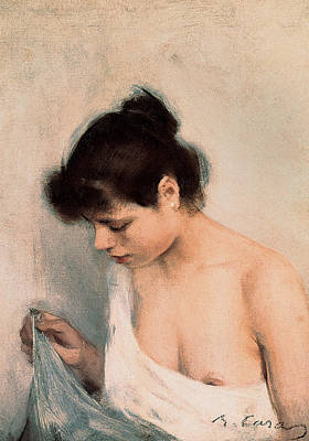 Study Poster by Ramon Casas i Carbo