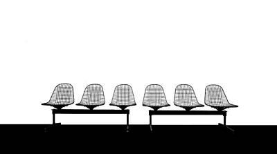 Stuhlreihe Poster