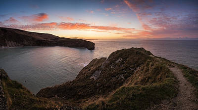 Stunning Summer Sunrise Over Calm Ocean Landscape Poster by Matthew Gibson