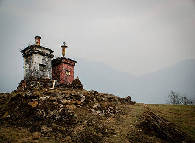 Stupas Poster by Helix Games Photography