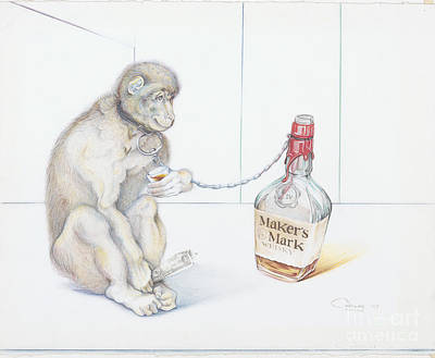 Stupid Monkey Poster by Carlos Ruiz