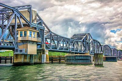 Sturgeon Bay Historic Michigan Street Bridge In Door County Poster by Christopher Arndt