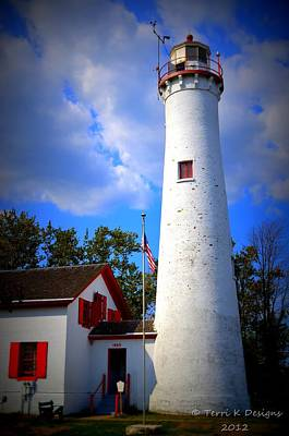 Sturgeon Point Lighthouse Michigan Poster by Terri K Designs