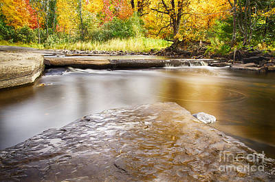 Sturgeon River In Fall Poster by Twenty Two North Photography