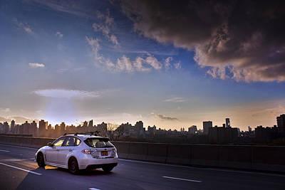 Subaru Impreza Wagon Wrx Sti Sunset Poster