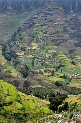 Subsistence Farming In Simien Mountains Poster