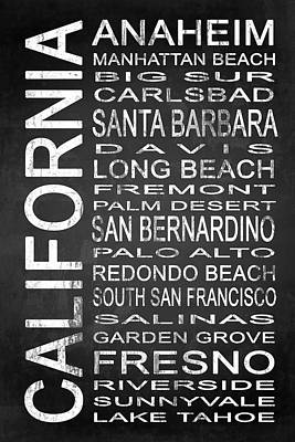 Subway California State 4 Poster by Melissa Smith