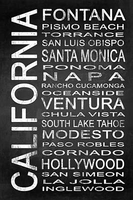 Subway California State 5 Poster by Melissa Smith