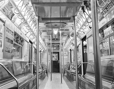 Poster featuring the photograph New York City - Subway Car by Dave Beckerman