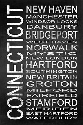 Subway Connecticut State 1 Poster by Melissa Smith