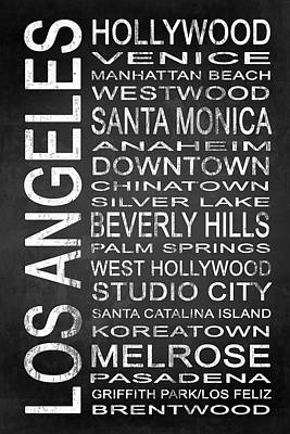 Subway Los Angeles 1 Poster by Melissa Smith