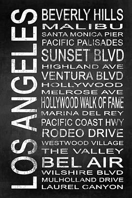 Subway Los Angeles 2 Poster by Melissa Smith