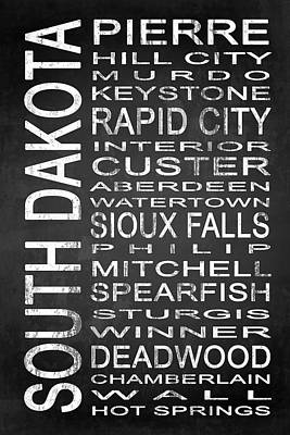 Subway South Dakota State 1 Poster by Melissa Smith