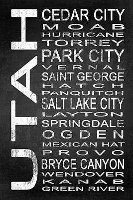 Subway Utah State 1 Poster by Melissa Smith