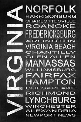 Subway Virginia State 1 Poster by Melissa Smith