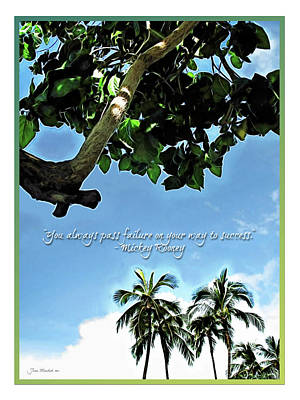 Success And Failure Botanical Inspiration Poster