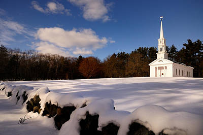 Sudbury Martha-mary Chapel Winter Covering Poster by Mark Valentine