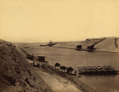 Suez Canal, Egypt, 19th Century Poster