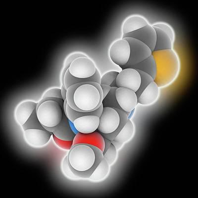 Sufentanil Drug Molecule Poster by Laguna Design