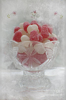 Sugar And Spice Love Red And White Poster by Ella Kaye Dickey