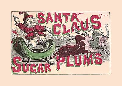 Sugar Plums Label 1868 With Border Poster