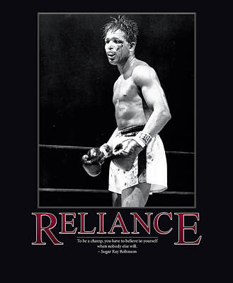 Sugar Ray Robinson Reliance Poster by Retro Images Archive