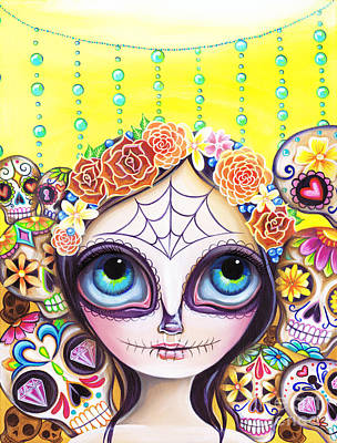 Sugar Skull Princess Poster by Jaz Higgins