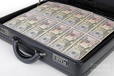 Suitcase Full Of Money Poster by Ingo Schulz