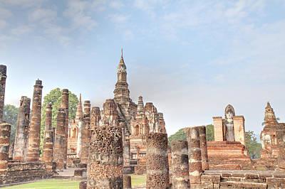 Sukhothai Historical Park - Sukhothai Thailand - 011330 Poster by DC Photographer