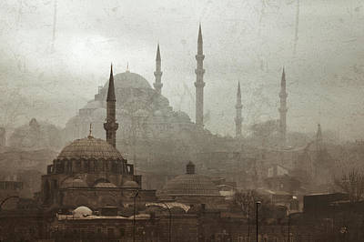 Suleymaniye Mosque And Rustem Pasha Mosque Poster by Ayhan Altun