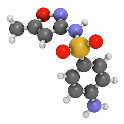 Sulfamethoxazole Antibiotic Drug Molecule Poster by Molekuul