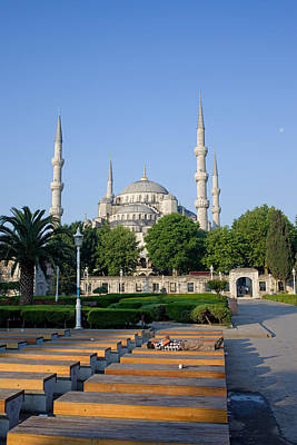 Sultan Ahmet Mosque In Istanbul Poster by Artur Bogacki