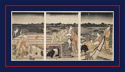 Sumidagawa Funa-asobi = Pleasure-boating On The Sumida River Poster by Artokoloro
