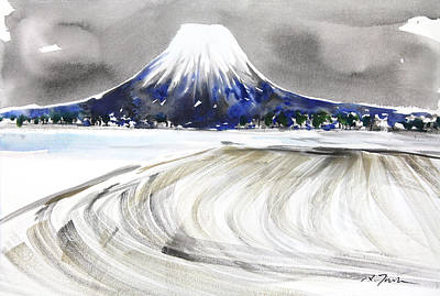Sumie No.17 Mt.youtei In Hokkaido Japan Poster