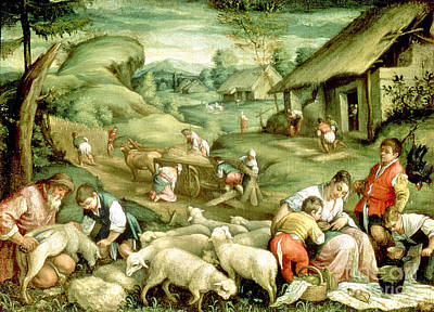 Summer, 1570-80 See Also 65685 Poster by Francesco Bassano