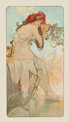 Summer Poster by Alphonse Mucha