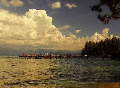 Summer At The Lake Poster by John K Woodruff