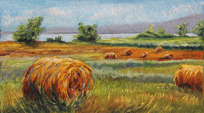 Summer Bales Poster by Meaghan Troup