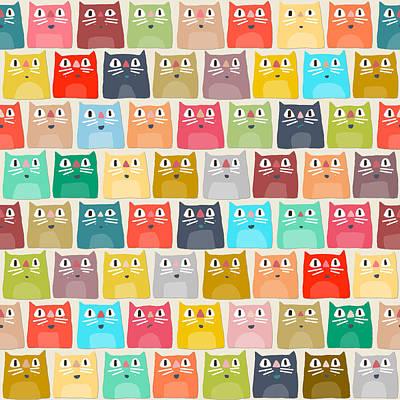 Summer Cats Poster