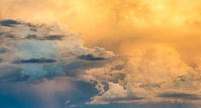 Summer Clouds - Abstract Cloud Photograph Poster