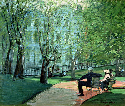 Summer Day Boston Public Garden Poster by George Luks
