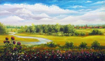 Poster featuring the painting Summer Day by Vesna Martinjak