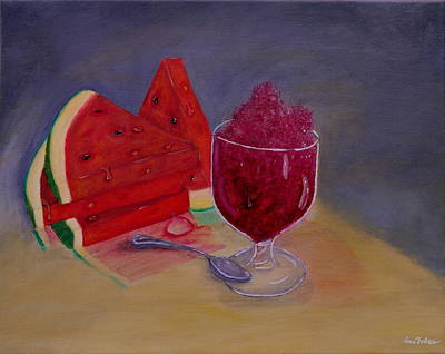 Summer Delight ..watermelon Slices Poster by Iris Forbes