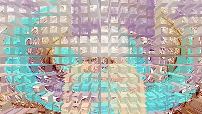 Summer Dreaming Geometrical Digital Painting Poster by Georgeta  Blanaru