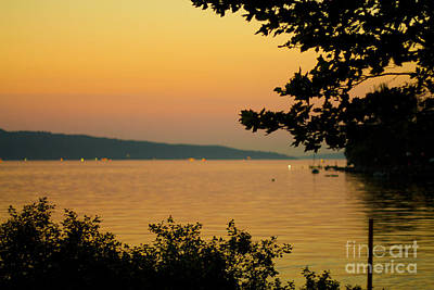 Summer Evening On Cayuga Lake Poster