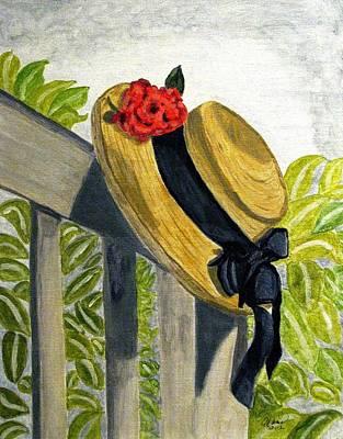 Summer Hat Poster by Angela Davies